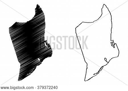 Da Nang City (socialist Republic Of Vietnam, South Central Coast Region) Map Vector Illustration, Sc