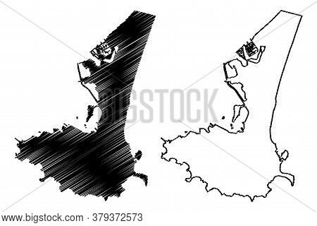 Aden City (republic Of Yemen) Map Vector Illustration, Scribble Sketch City Of Aden Map