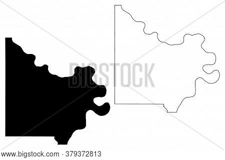 Doniphan County, Kansas (u.s. County, United States Of America, Usa, U.s., Us) Map Vector Illustrati