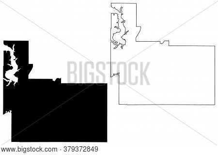 Geary County, Kansas (u.s. County, United States Of America, Usa, U.s., Us) Map Vector Illustration,