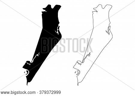 Aracaju City And Municipality (federative Republic Of Brazil, Sergipe State) Map Vector Illustration