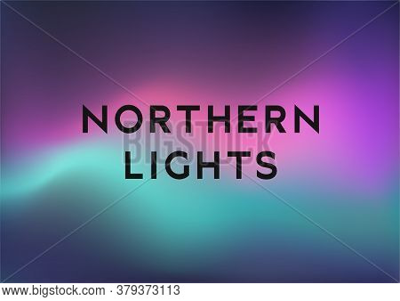 Northern Lights, Bright Gradient Background Horizontal Format, Vector Illustration