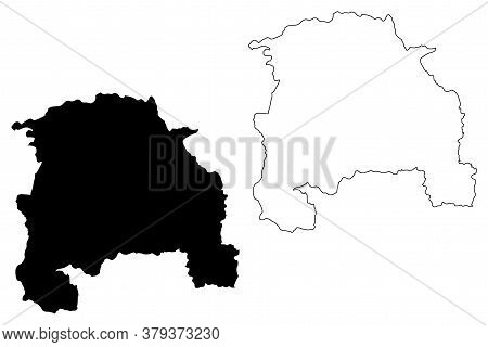 Sorocaba City And Municipality (federative Republic Of Brazil, Sao Paulo State) Map Vector Illustrat