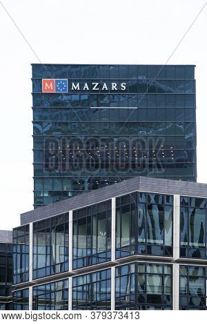 Paris, France - November 11, 2019: Mazars Office Building In Paris La Defense, France. Mazars Is A G