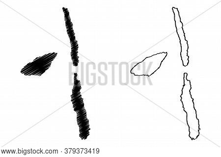 Penama Province (republic Of Vanuatu, Archipelago) Map Vector Illustration, Scribble Sketch Pentecos
