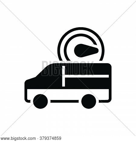 Black Solid Icon For Fast-delivery Fast Delivery Truck Quick Food Speed Order Parcel Vehicle Deliver
