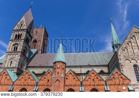 Roof And Towers Of The Cathedral In Ribe, Denmark