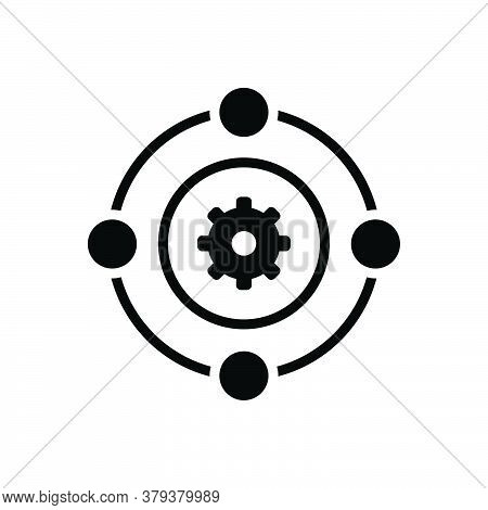 Black Solid Icon For Teamwork Workforce Synergy Unity Corporate Collaboration Employee Function Orga