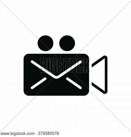 Black Solid Icon For Video-message Application Cinematography Clapboard Communication Device Multime