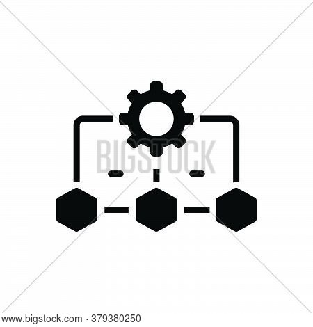 Black Solid Icon For Workflow-process Workflow Process Plan Management Application Interface Marketi