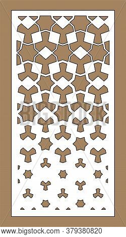 Laser Pattern. Decorative Vector Panel For Laser Cutting. Template For Interior Partition In Arabesq