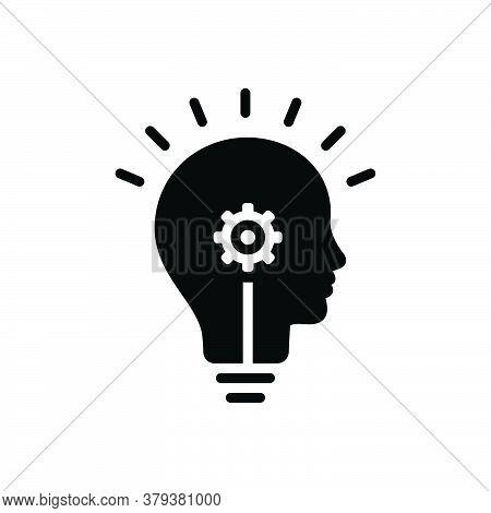 Black Solid Icon For Idea-generation Idea Generation Conclusion Opinion Scheme Skills Motivation Con