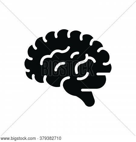 Black Solid Icon For Human-brain Human Brain Psychology Memory Brainstorm Creativity Genius Idea Min