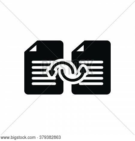 Black Solid Icon For Sharing Document Change Transfer Files Exchange Copy Storage Swap Folder Archiv