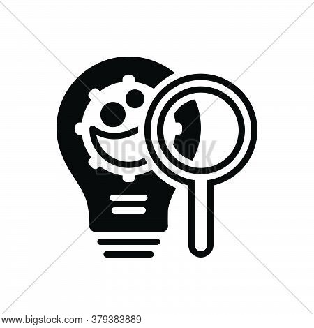 Black Solid Icon For Innovation-research Innovation Research Modernization Magnifier Optimization An