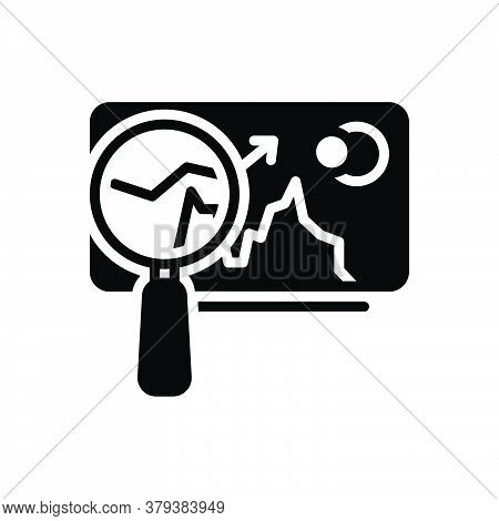 Black Solid Icon For Market-analysis  Market Trend Tendency Statistic Arrow Finance Graphic Economic