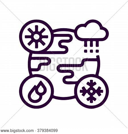 Weather Icon Isolated On White Background From Climate Change Collection. Weather Icon Trendy And Mo