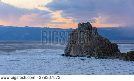 Rock  Shamanka On The Island Of Olkhon, Baikal