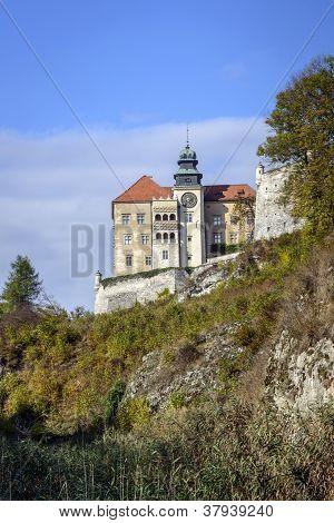 View Of Pieskowa Skala Castle In Poland