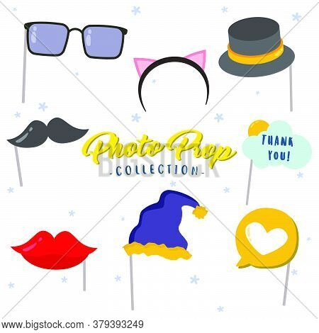 Creative Photo Booth Props Vector Design Collection, Can Be Use To Make Poster