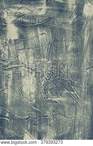 Grey Texture Decorative Venetian Stucco For Backgrounds - Image