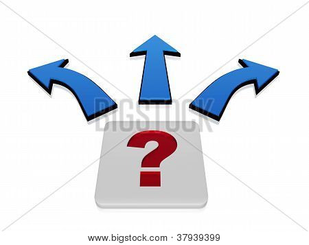 Question-mark Sign With Arrows