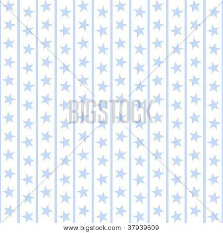 Pale Blue Stars & Stripes