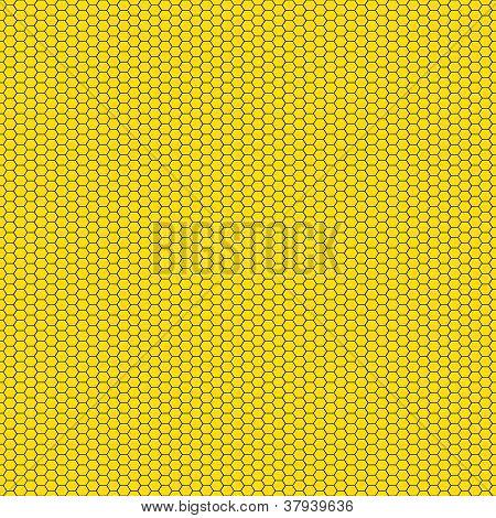 Yellow & Black Honeycomb Pattern