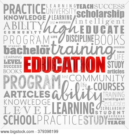 Education - Word Cloud Collage, Concept Background