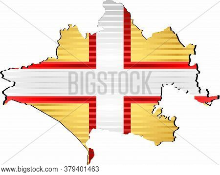 Shiny Grunge Map Of The Dorset - Illustration,  Three Dimensional Map Of Dorset