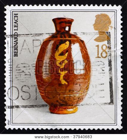 Postage stamp GB 1987 Studio pottery by BernardLeach