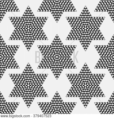 Vector Seamless Pattern. Decorative Ornament, Figurative Design Template