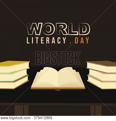 Books Vector Illustration. Perfect Template For World Literacy Day Design.