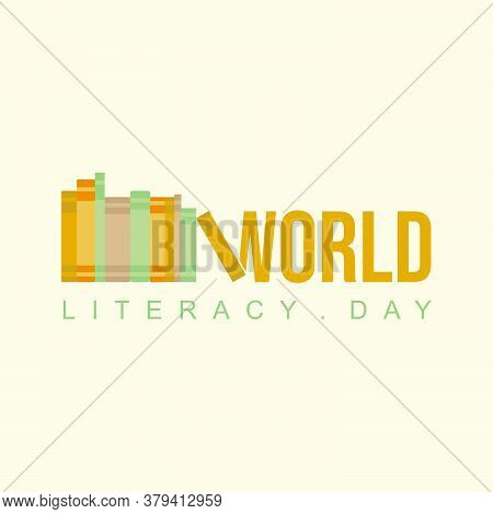 Typography Design Of World Literacy Day Vector Illustration With Book Concept