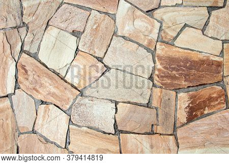 Stone Path. Natural Stone Background. Stone For Paths