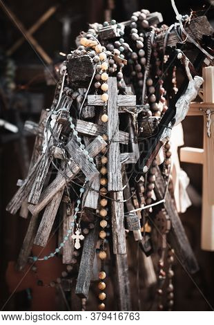 Siauliai, Lithuania - Jul 12, 2015: Hill Of Crosses Is A Unique Monument Of History And Religious Fo