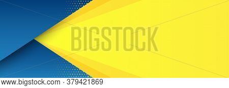 Abstract Background With Modern Futuristic Graphic. Yellow Background With Stripes. Dotted Texture P