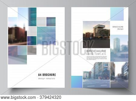 Vector Layout Of A4 Format Cover Mockups Templates For Brochure, Flyer Layout, Booklet, Cover Design