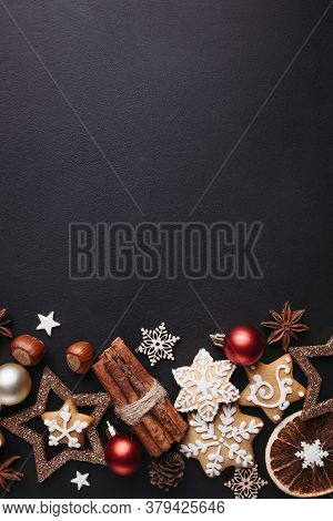 Christmas Background, Celebration Atmosphere, New Years Eve Party Concept. Holiday Design Template W