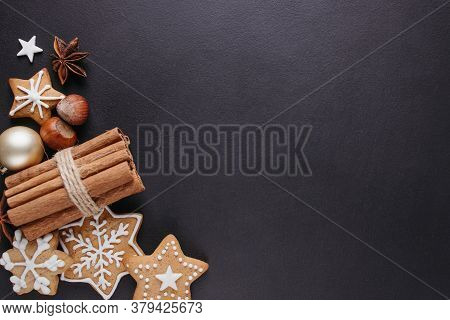 Winter Holidays Celebration Atmosphere, Christmas And New Year Design Template. Composition With Fes