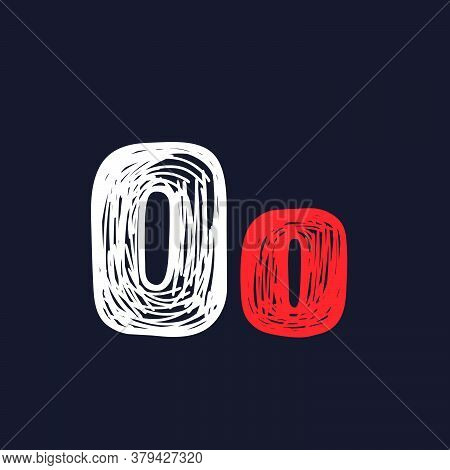 O Letter Hand-drawn By Chalk On A Blackboard. This Font Is Perfect For A School Signboard, Advertisi