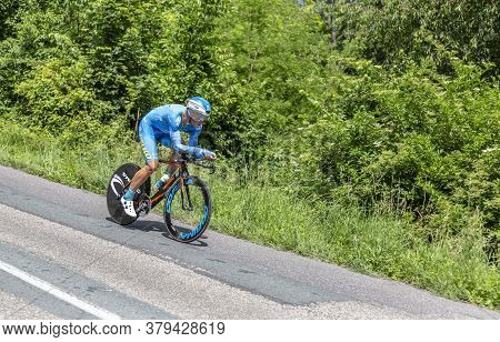 Bourgoin-jallieu, France - 07, May, 2017: The Lithuanian Cyclist Evaldas Siskevicius Of Delko-marsei