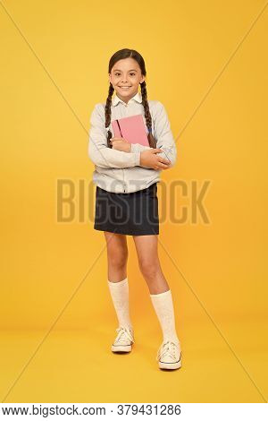 Focused On Education. Kid Girl Diligent Student Likes To Study. Study In Secondary School. Homeschoo