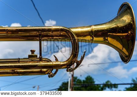 Marching Band Trumpet Sky