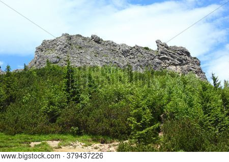 Rock formation Sarnia Skala in Tatra mountains Poland
