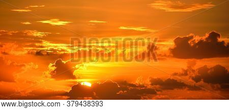 Vibrant Color Sunrise Orange Majestic Sky Bright