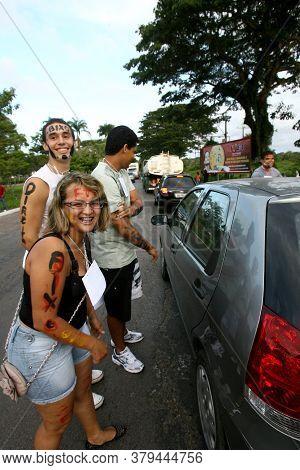 Ilheus, Bahia / Brazil - March 23, 2012: University Students Participate In A Prank Of Freshmen At T