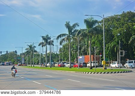 Manila, Ph - Sept 8 - Roxas Boulevard Road On September 8, 2018 In Manila, Philippines.