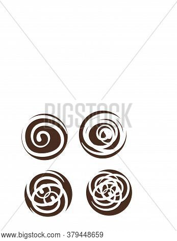 Set Paint Circle Abstract Line Logo And Vector Icon