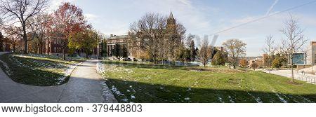 The campus of Syracuse University in Syracuse, New York, USA, home of the Syracuse Orange.